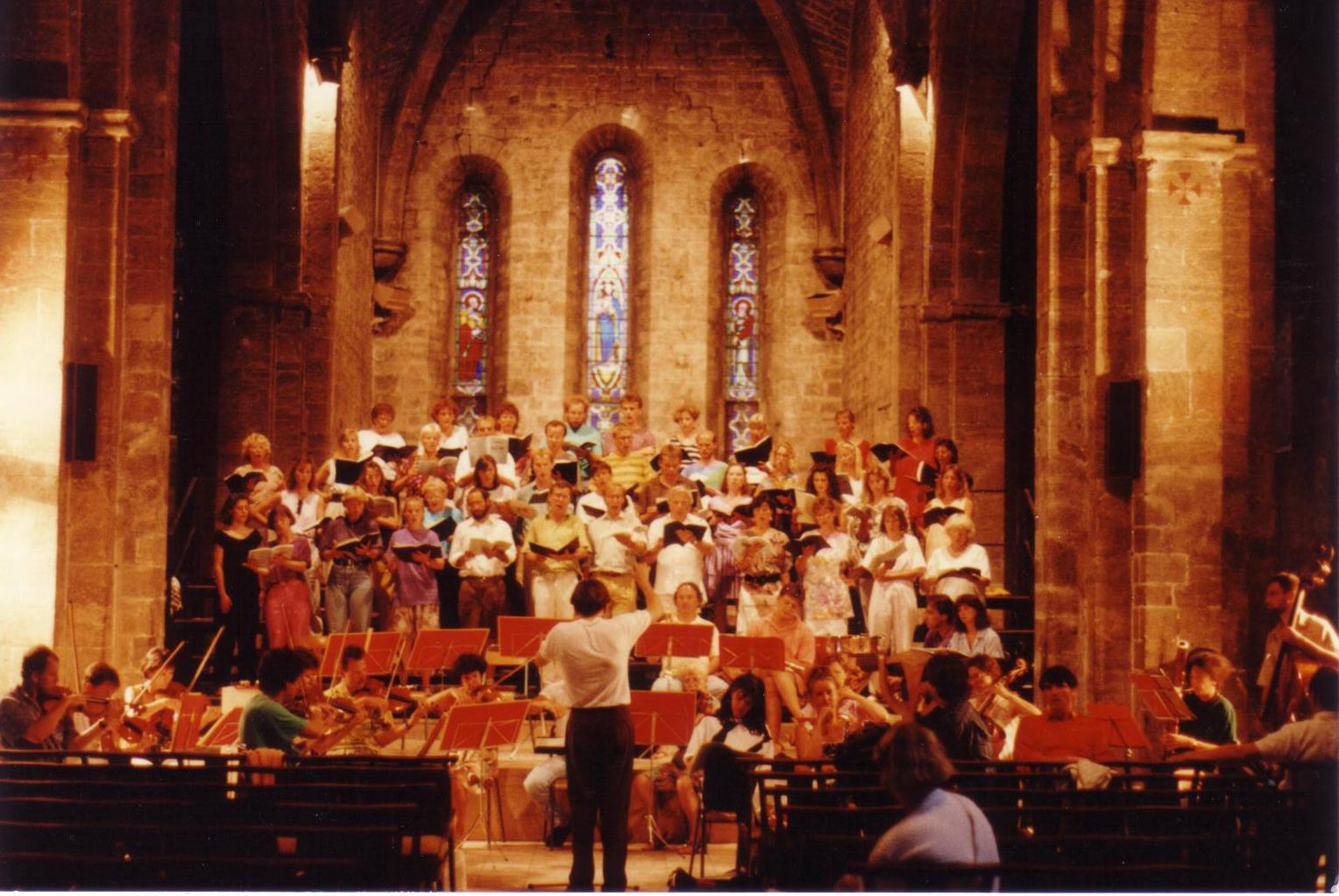Probe in der Kirche von Anzy-le-Duc