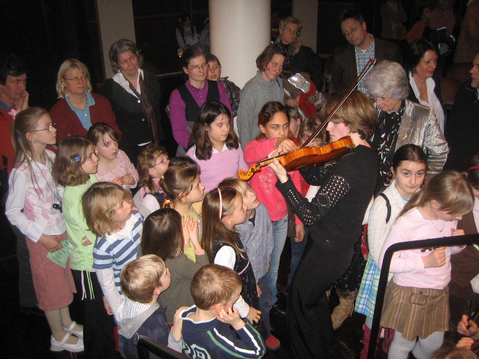 Hier die Geigenfamilie