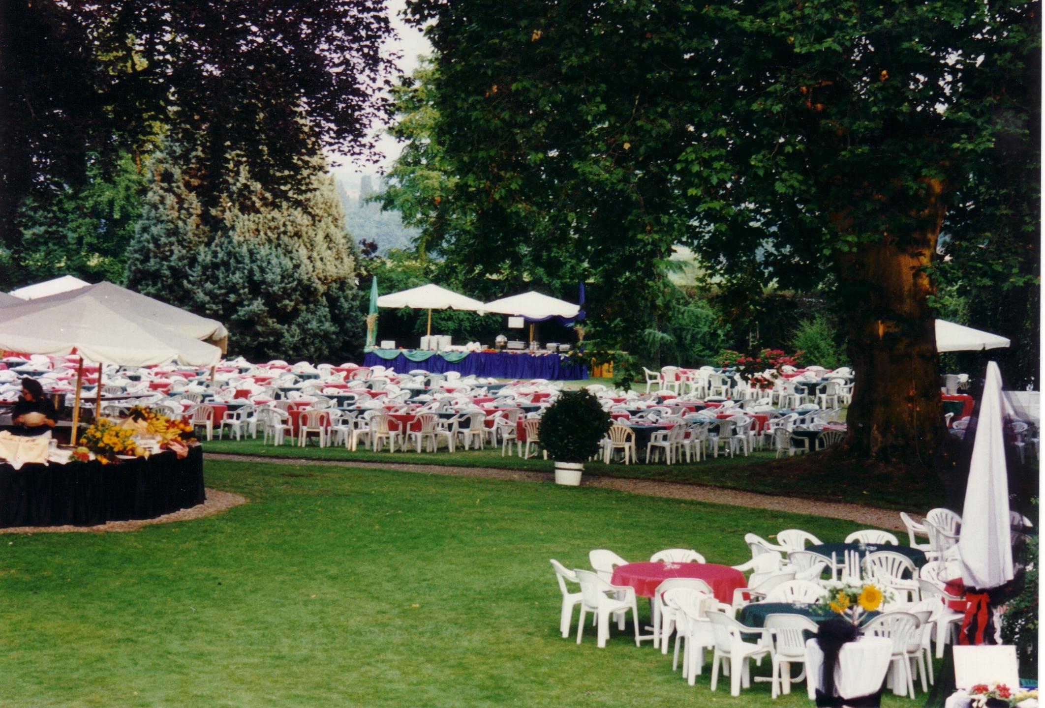 Der Park vor dem Ansturm der Gäste