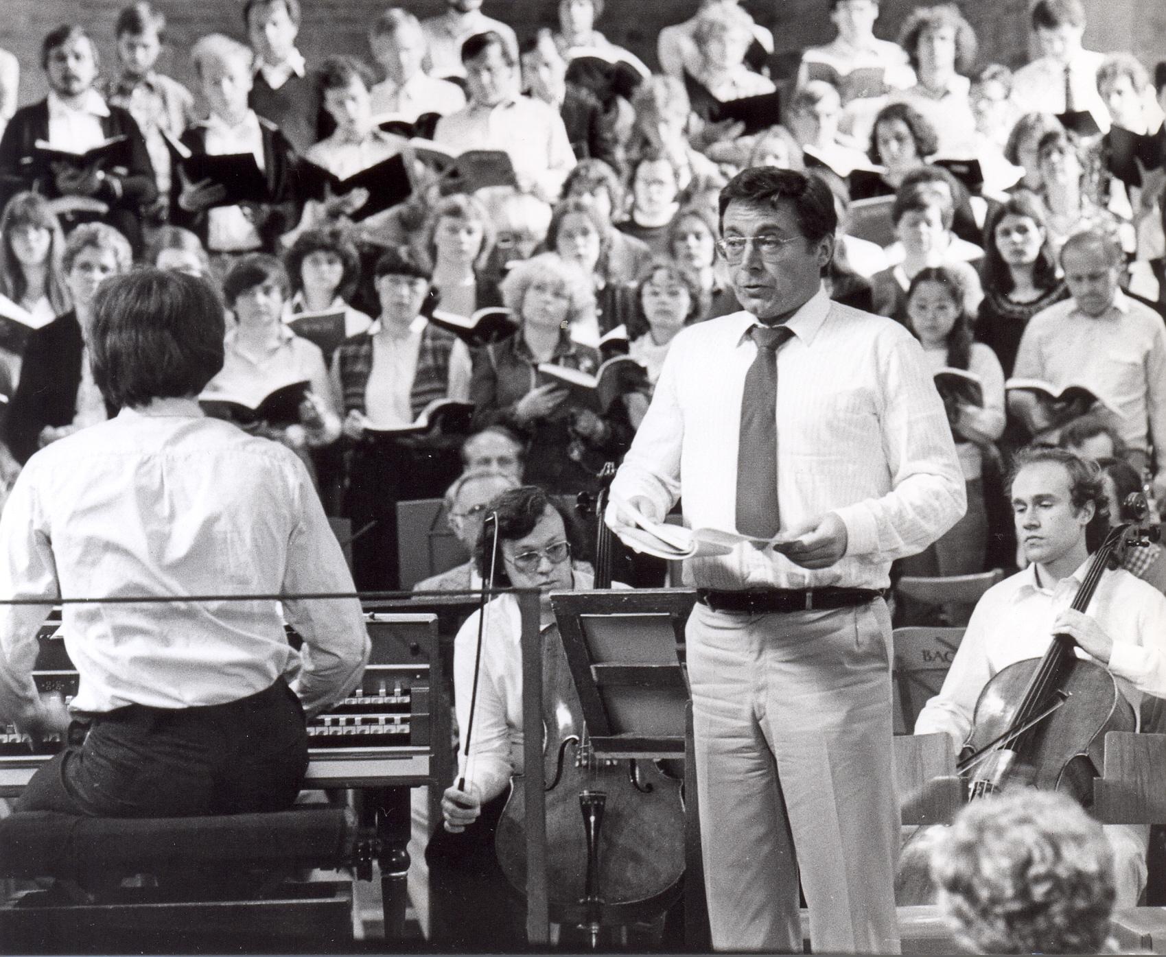 Probe zur Johannes-Passion mit Peter Schreier