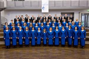 Der Cäcilienchor im Chorhaus – das Blau von 2000.